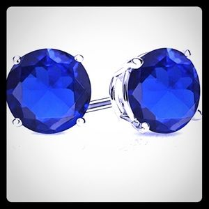 Jewelry - NEW Sapphire and Silver Stud Earrings